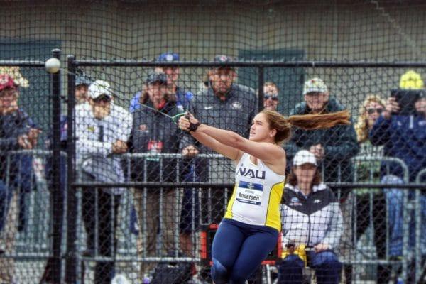 Brooke Andersen throws hammer