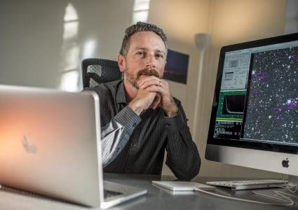 NAU astronomer Chad Trujillo studies extreme objects that orbit the sun beyond the Kuiper Belt.