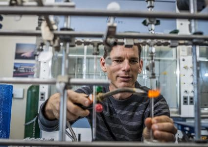 NAU ecologist Ted Schuur studies the regional vulnerability of permafrost carbon to climate change.