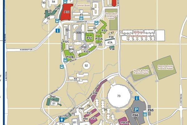 Nau Parking Map Maps | Northern Arizona University