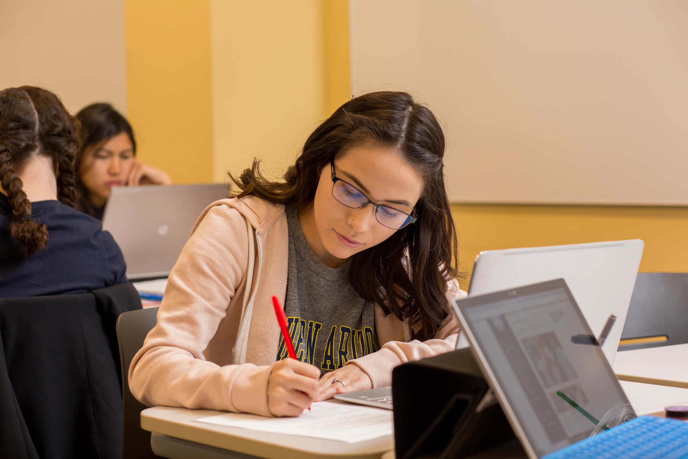 Student working on assignment