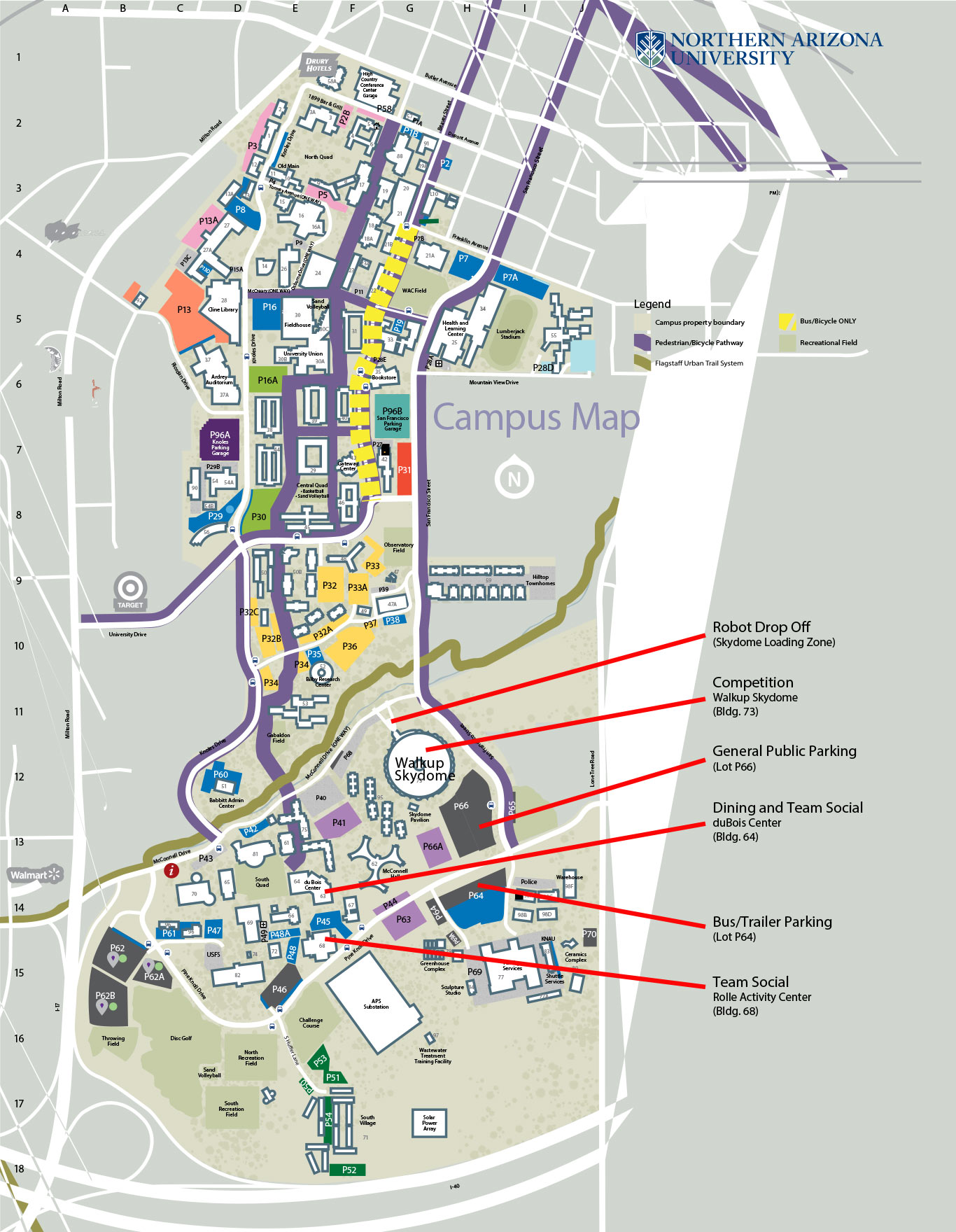 Nau Parking Map Robotics | Northern Arizona University