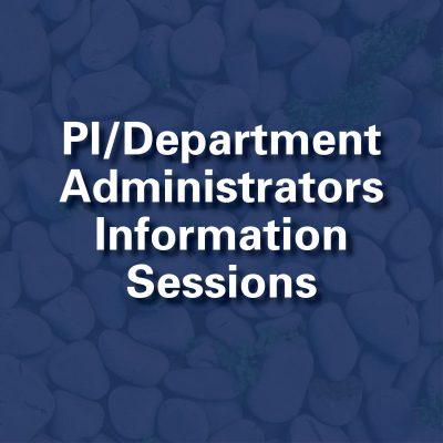 PI Department Information Session