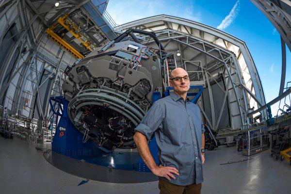 Professor David Trilling in Astrology Lab-Lutz Telescope at Northern Arizona University