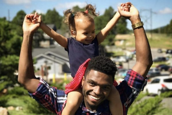 Lorenzo Johnson and daughter