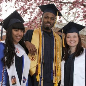 3 graduating students at nau