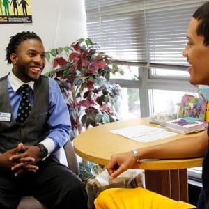 2 nau star students in mentoring meeting