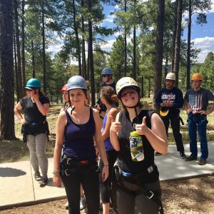 STAR students on challenge course
