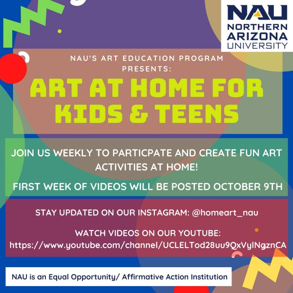 Flyer for Art from Home for Kids and Teens program