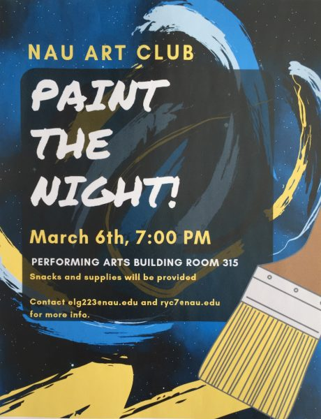 poster advertising Paint the Night event