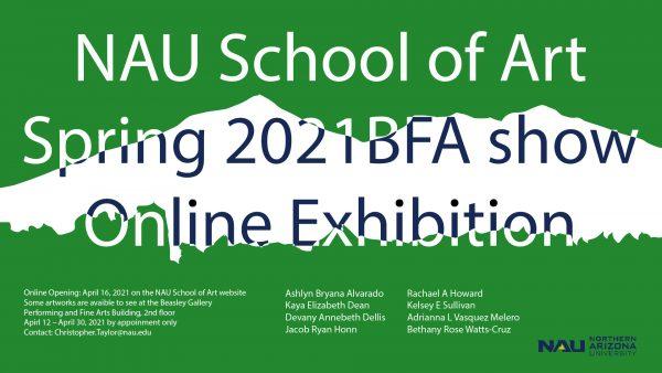 Spring BFA exhibition poster