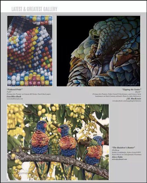 Magazine page featuring artwork by J.R. MacKenzie