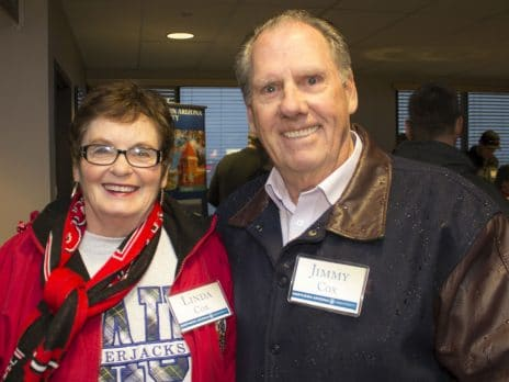 Two NAU alumni attend the NAU Alumni Prescott chapter Ice Jacks game