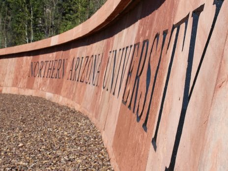 Northern Arizona University granite sign