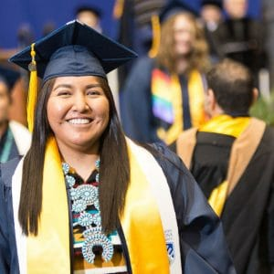 Recent NAU graduate and brand new alumni member at the NAU graduate spring 2017