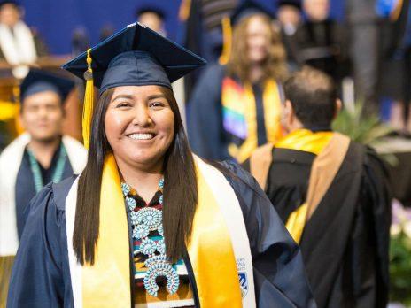 Recent NAU graduate and brand new alumni member at the NAU graduate spring 2017