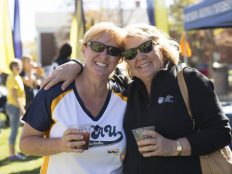 Two NAU alumni reconnect over coffee at the Cafe Au Louie Homecoming 2016