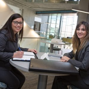 nau student and alumni networking session between two women