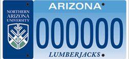 NAU License Plate