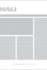 layout example using NAU ligature logo
