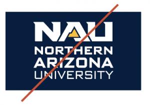 Northern Arizona University logo, do not use
