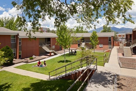 Campus Heights courtyard