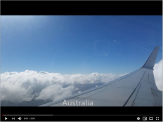 A screenshot of a Youtube video of an airplane wing.