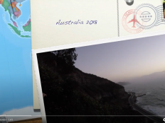 A postcard of Australia and the coastline.