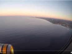 A screenshot of a Youtube video of the ocean.