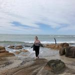 Juliana at the beach in Uruguay.