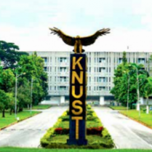 KNUST sign with bird on top