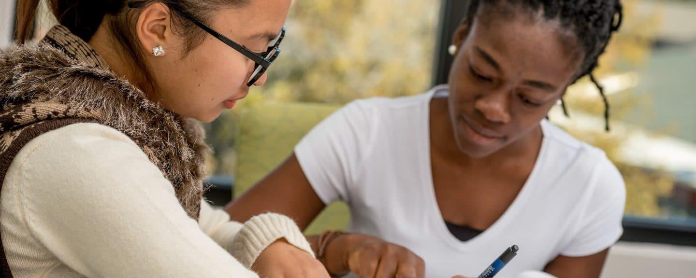 NAU GPR graduate students doing homework