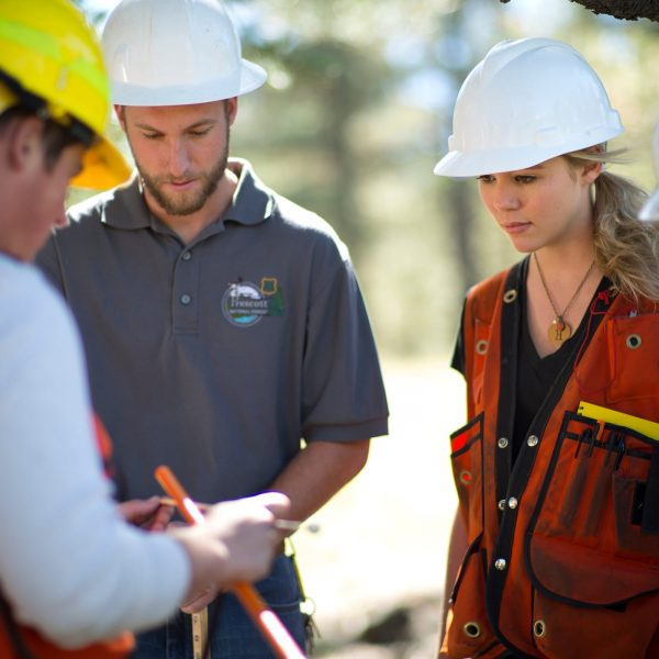 forestry students perform outdoor research