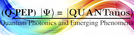 Logo for Professor Inès Montaño's research group, Quantum Photonics and Emerging Phenomena (Q-PEP)