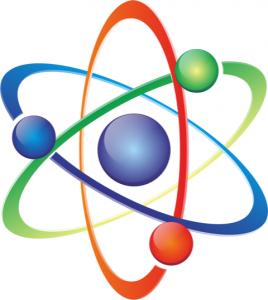 graphic of atom