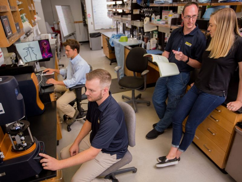 Tim Becker and students in BDL lab