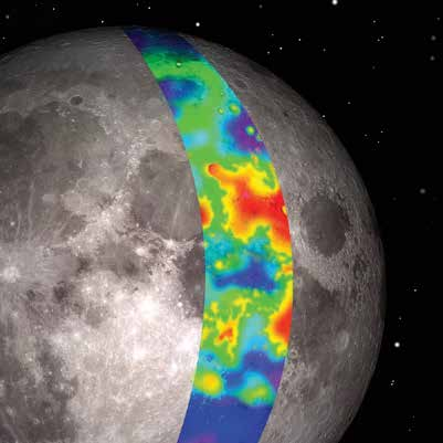 Simulated IR map of the Moon