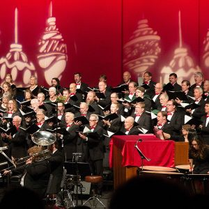 Master Chorale singing traditional Christmas songs