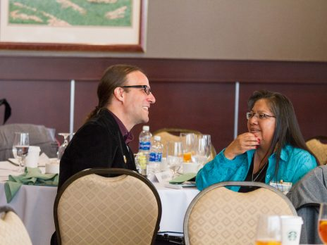 NAU Vice President for Native American Initiatives, Dr. Chad Hamill and Catherine Talakte Taylor