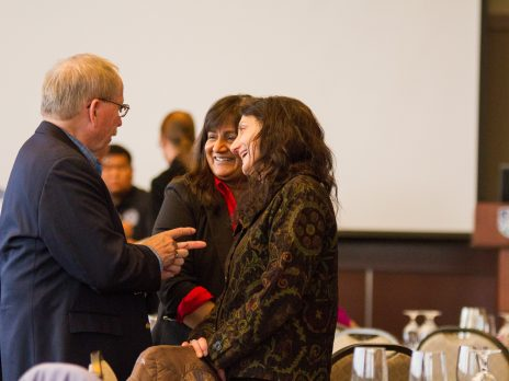 Dr. Henry Hooper; Dr. Karen Pugliesi, SBS Dean; and Dr. Ramona Mellot, Dean of the Graduate College