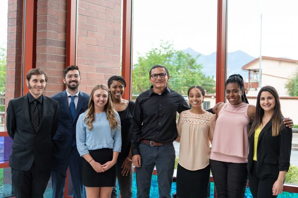 Students completing the Summer 2018 Research Experience for Undergraduates Program