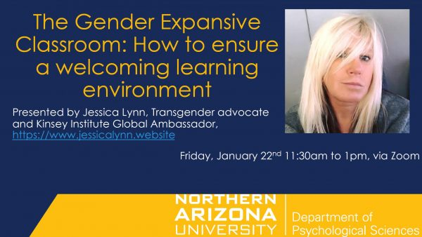 Flyer for presentation on the gender expansive environment