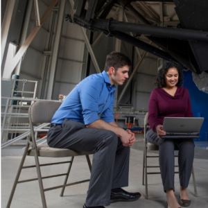 Jacob Hyden with mentor Christina Thomas at the Discovery Channel Telescope