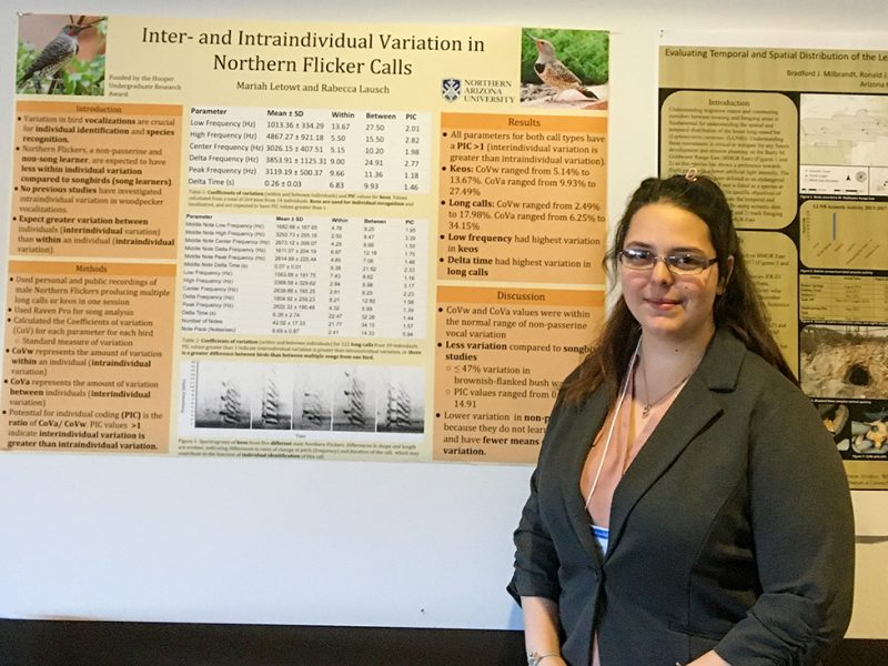 Mariah Letowt standing by research poster