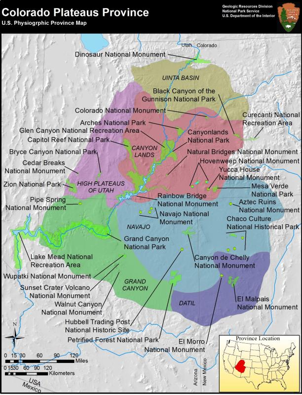 map of Colorado Plateaus Province