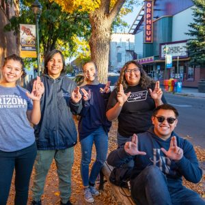 Students in downtown Flagstaff