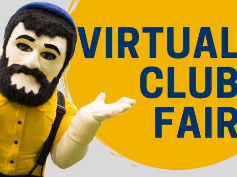 Louie promoting the NAU Virtual Club Fair