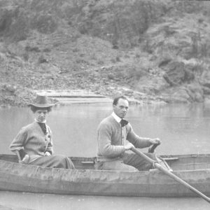 Ellsworth Kolb with woman in a canoe on the Colorado River