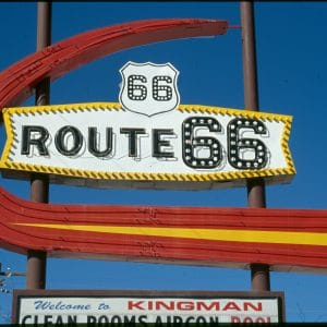 On the road & signs - Kingman to Oatman, Arizona