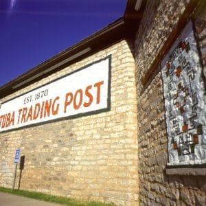 Tuba Trading Post, signs.